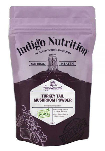 Indigo Turkey Tail Mushroom Powder